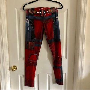 🎃 Halloween's coming! XL Deadpool leggings - NWT
